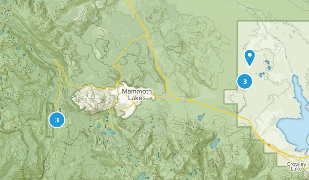 Beautiful Mammoth Lakes Hot Springs Map Pictures - Printable Map ...