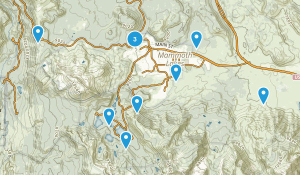 Mammoth Lakes, California Mountain Biking Map