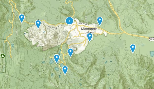 Mammoth Lakes, California Mountain Biking Map