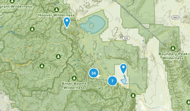 Mammoth Lakes, California Nature Trips Map