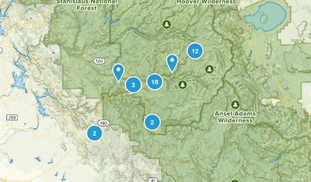 Mariposa, California Trail Running Map