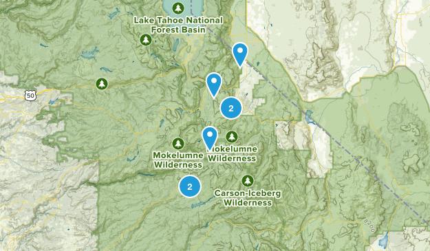 Markleeville, California Mountain Biking Map