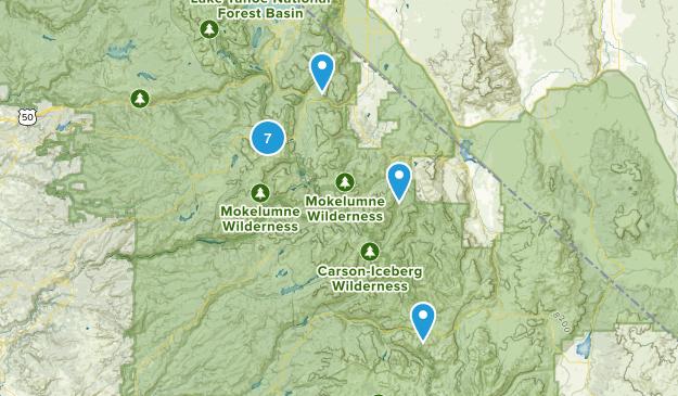 Markleeville, California Snowshoeing Map
