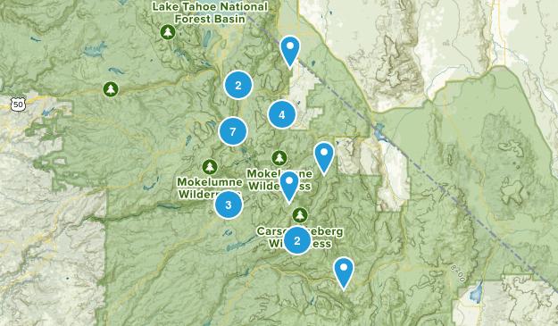 Markleeville, California Trail Running Map