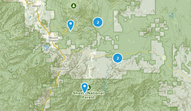 Mccloud, California Hiking Map