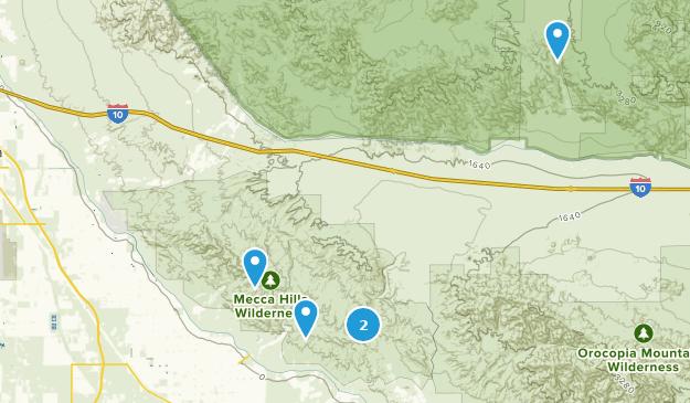 Best Cave Trails near Mecca, California | AllTrails California Caves Map on