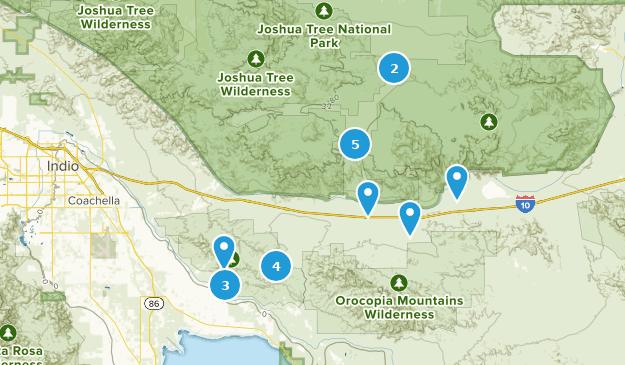 Map of Trails near Mecca, California | AllTrails