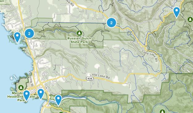 Mendocino, California Hiking Map