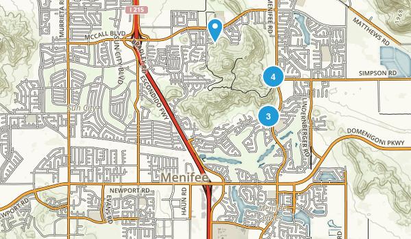 Menifee, California Birding Map