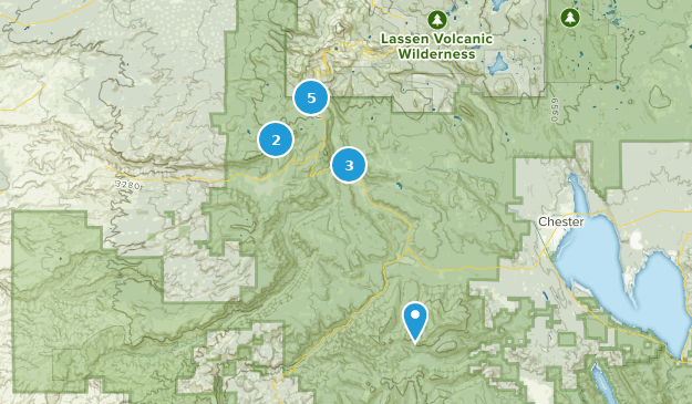 Mill Creek, Kalifornien Hiking Map