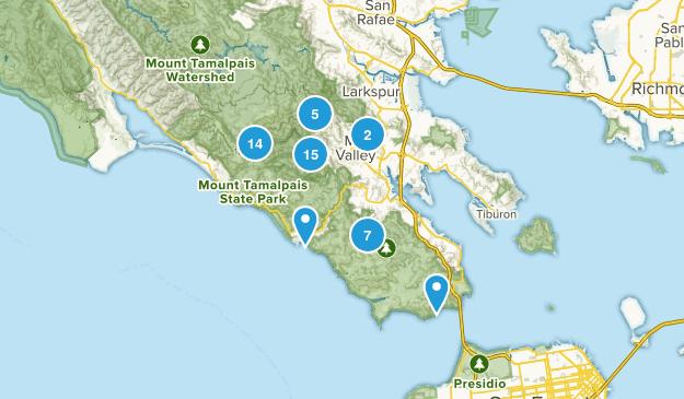 Mill Valley, California Birding Map