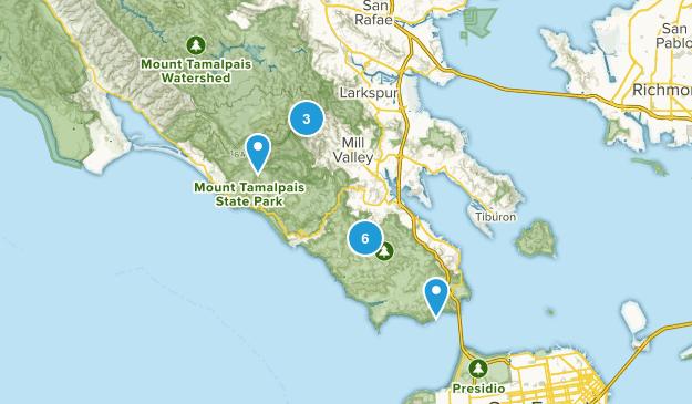 Mill Valley, California Mountain Biking Map