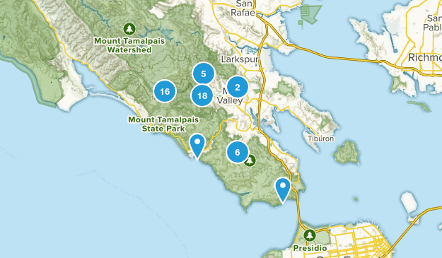 Mill Valley, California Nature Trips Map