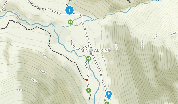 Mineral King, California Backpacking Map