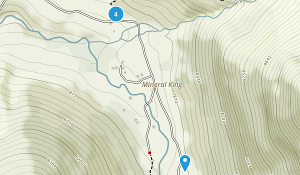 Mineral King, California Camping Map