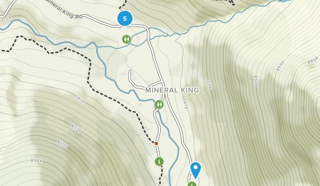 Mineral King, California Hiking Map