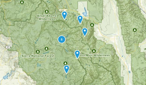 Mono Hot Springs, California Nature Trips Map