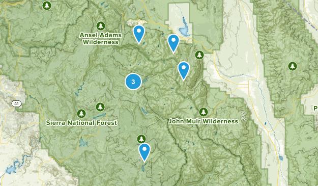 Mono Hot Springs, California Wild Flowers Map
