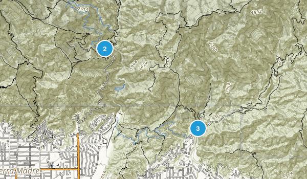 Monrovia, California Nature Trips Map