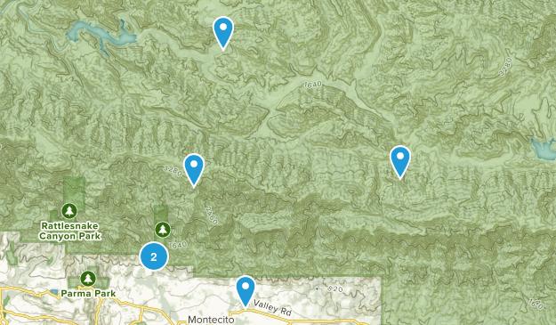 Montecito, California Nature Trips Map