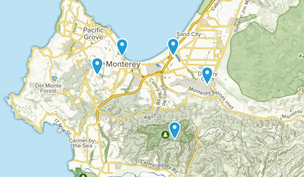 Monterey, California Walking Map