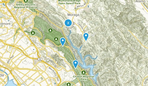 Moraga, California Nature Trips Map