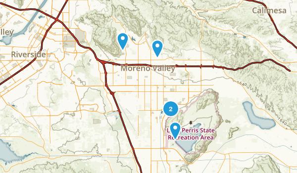 Moreno Valley, California Birding Map