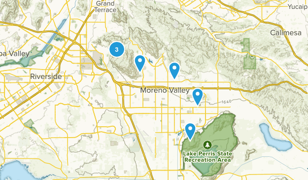 Moreno Valley, California Dogs On Leash Map