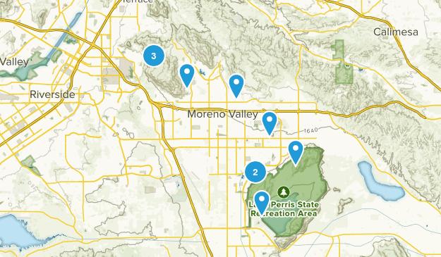 Moreno Valley, California Hiking Map