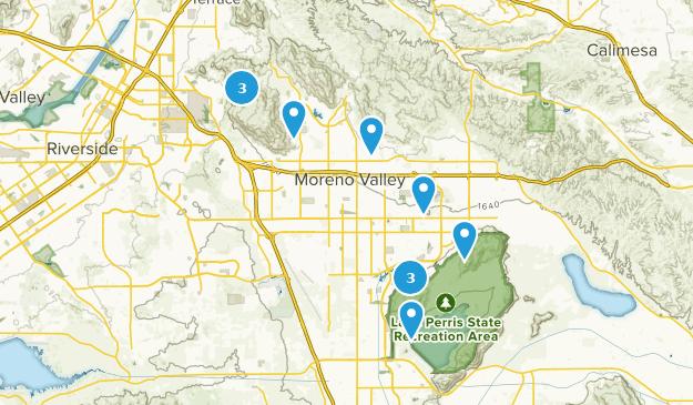 Moreno Valley, Kalifornien Hiking Map
