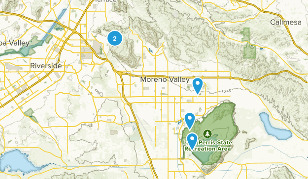 Moreno Valley, California Mountain Biking Map