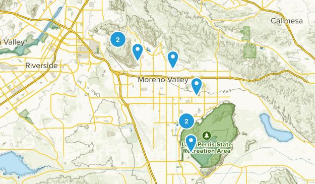 Moreno Valley, California Nature Trips Map