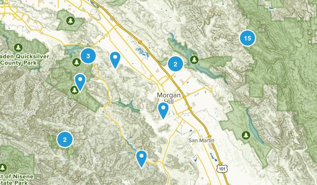 Morgan Hill, California Hiking Map