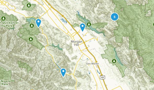 Morgan Hill, California Lake Map