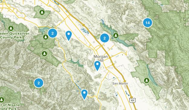 Morgan Hill, California Walking Map