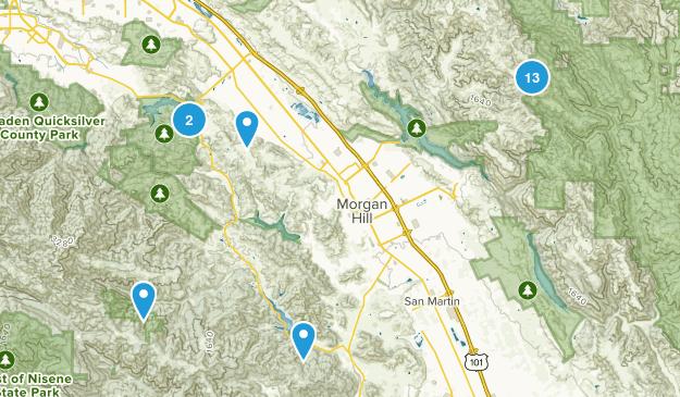 Morgan Hill, California Wild Flowers Map
