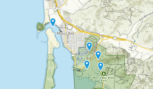 Morro Bay, California Nature Trips Map