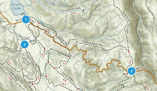 Mount Hamilton, California Hiking Map