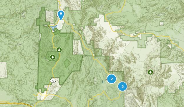 Mount Laguna, California Camping Map