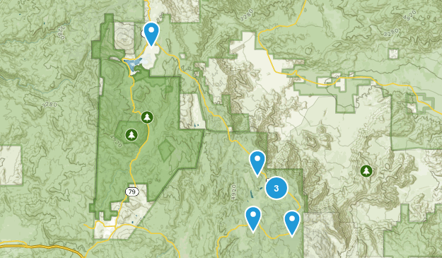 Mount Laguna, California Hiking Map