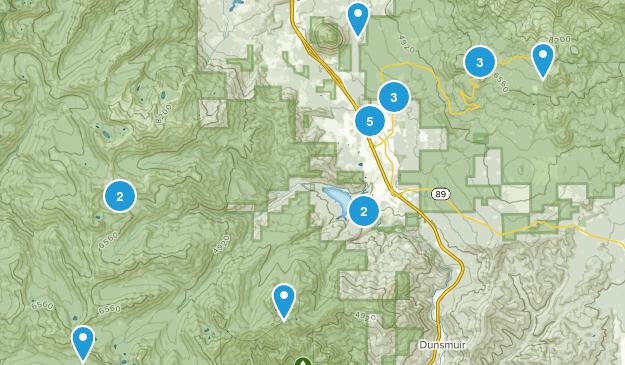Mount Shasta, California Birding Map