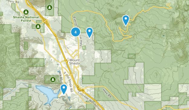 Mount Shasta, California Mountain Biking Map