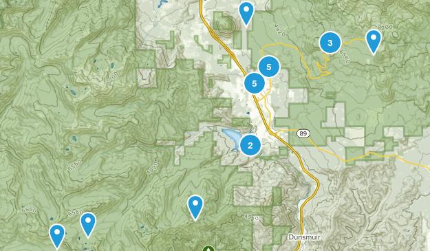 Mount Shasta, California Nature Trips Map