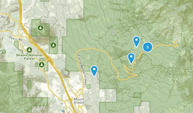 Mount Shasta, California Snowshoeing Map