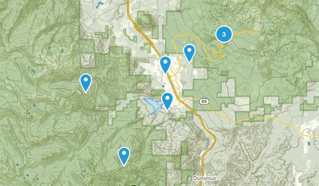 Mount Shasta, California Trail Running Map