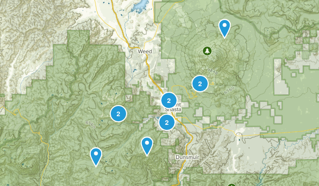Mount Shasta, California Wildlife Map