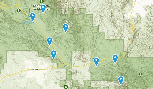 Mountain Center, California Mountain Biking Map