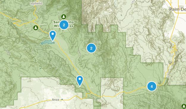 Mountain Center, California Nature Trips Map