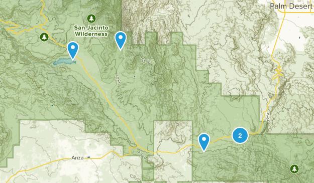 Mountain Center, California Trail Running Map