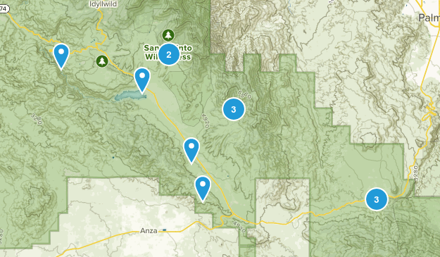 Mountain Center, California Walking Map
